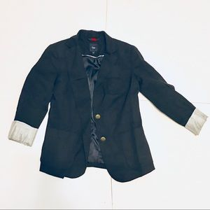 GAP Navy Classic Cuffed Women's Blazer